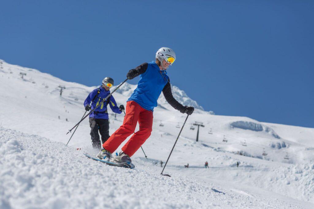Skiing in Ohakune, Ruapehu, New Zealand
