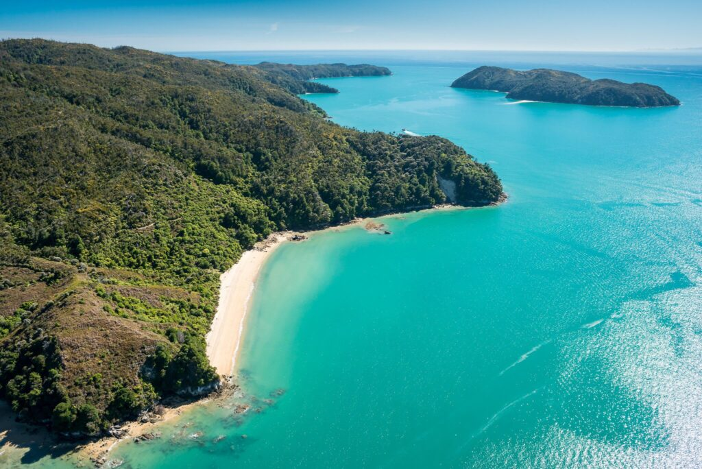 Abel Tasman Coastline. Nelson, New Zealand