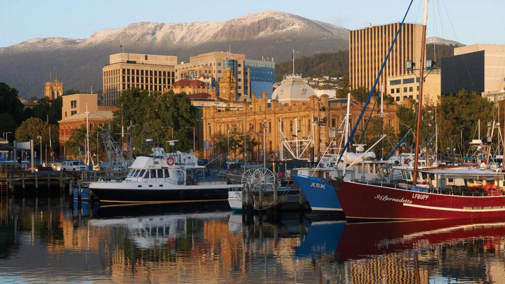 Hobart with Mt Wellington