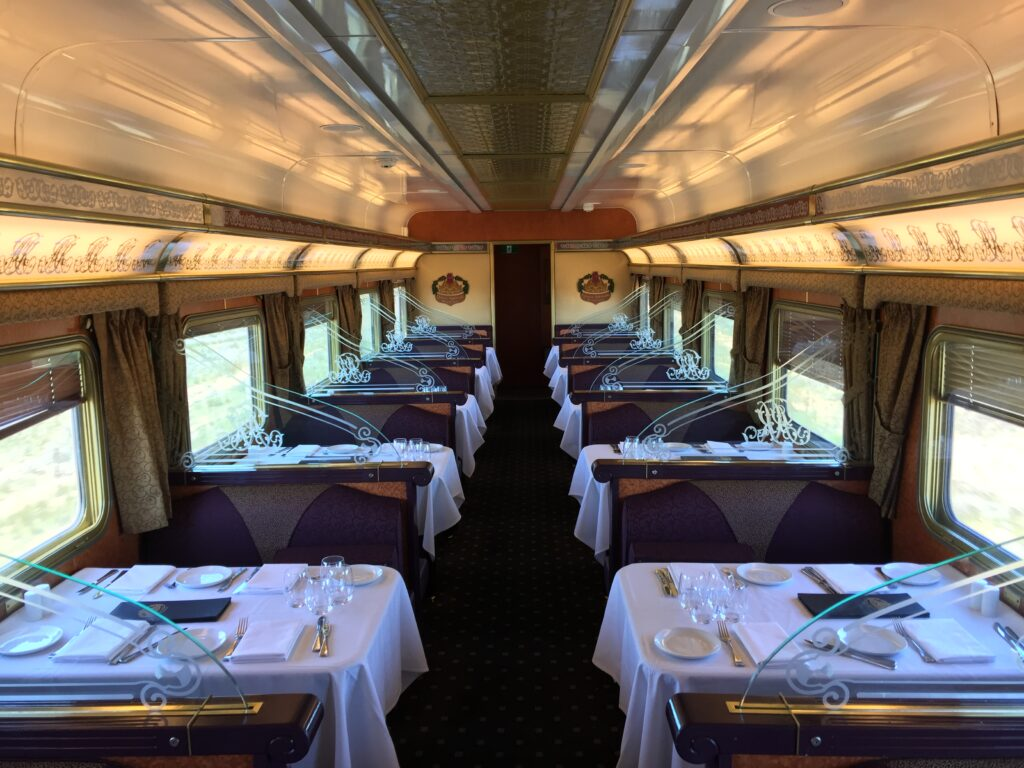 The Indian Pacific dining car. Australia