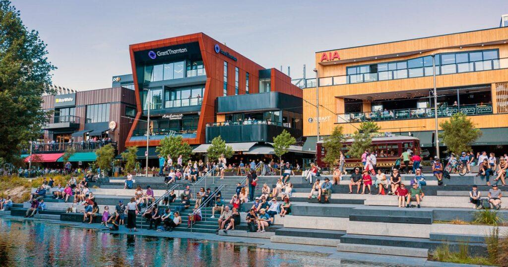 Riverside market in Christchurch New Zealand