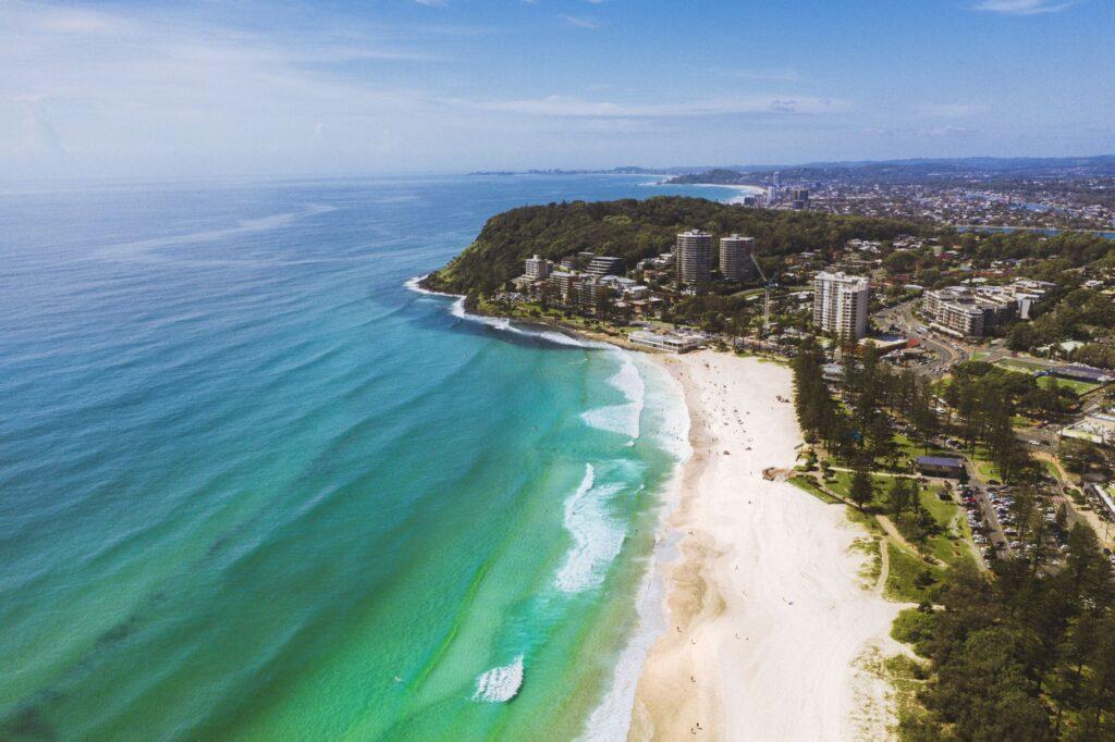 Burleigh beach Gold Coast